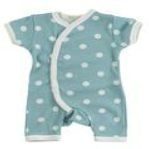 Blue Romper Suit with White Spots by Organics for Kids