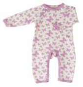 Butterfly Romper Suit by Organics for Kids for sale from Footsie 100 LTD