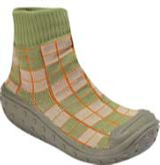 Green Beige Check BabyShocks from Footsie 100 Ltd & Bical